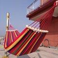 Canvas гнущаяся палка гамак с поворотом один двойной открытый качели открытый гамак с деревянной палкой портативный
