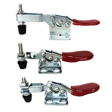 Clamp Horizontal Toggle Clamp Joiner's Clamp Quick-Release Clamp Abrazadera Vertical Toggle Clamp For Woodworking 1PC metal horizontal quick release hand tool toggle clamp for fixing workpiece 60 lbs antislip covered hand tool toggle clamp