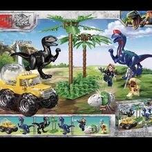 Jurassic world 2 Indominus Rex Resue  Dinosaurs Car building blocksI bricks toys for children Christmas