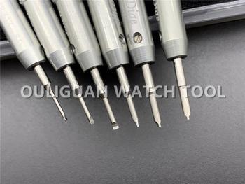 Herramienta de ajuste de reloj de pulsera Rlx de acero inoxidable, destornillador de reloj para reparación de reloj, tipo T especial para quitar el nudillo de la correa
