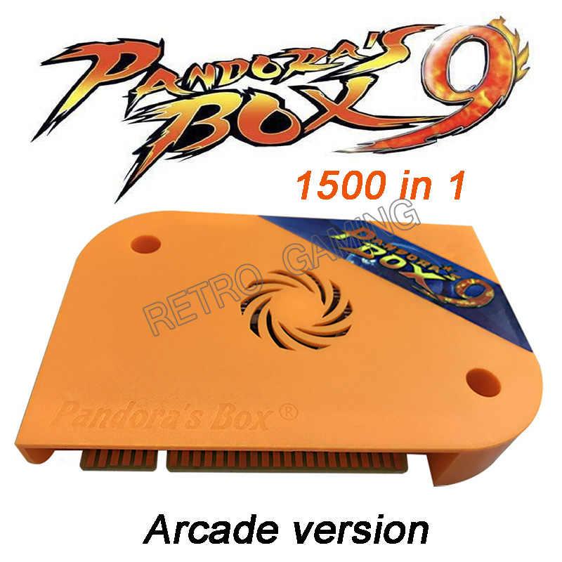판도라 박스 9 1500 1 아케이드 게임 잼 보드 HDMI VGA 출력 HD 720P 아케이드 캐비닛 기계 판도라의 5 6 7