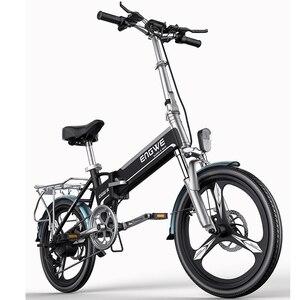 Электрический велосипед алюминиевый складной электрический велосипед 20 дюймов 400 Вт Мощный Mottor 48V12A аккумулятор 32 км/ч горный e велосипед Го...