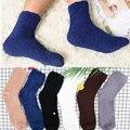 Мужские и женские зимние пушистые уютные кашемировые носки мягкие бархатные толстые теплые домашние тапочки для кровати