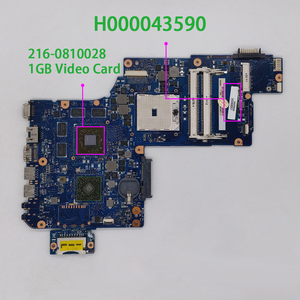 Image 1 - 도시바 위성 L870 C870 L870D C870D H000043590 w 216 0810028 1G Vram 노트북 마더 보드 메인 보드 테스트