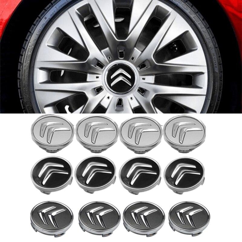 4 pçs centro da roda do carro tampas para citroen c2 c3 c4 c5 c1 elysee berling xsara picasso saxo cactus ds3 ds cubo de automóvel capa acessórios|Adesivos para carro|   -