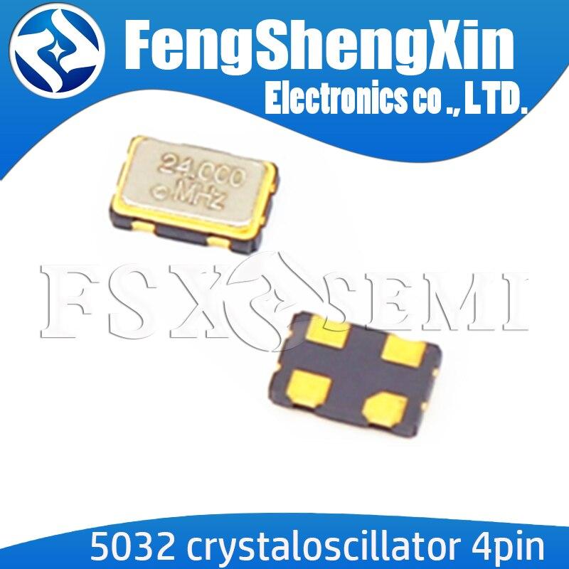 5pcs 5032 OSC Oscillator Crystaloscillator 4pin 5*3.2mm 12.288MHZ 16MHZ 18.432MHZ 20MHZ 22.5792MHZ 24MHZ 24.576MHZ 25MHZ 26MHZ