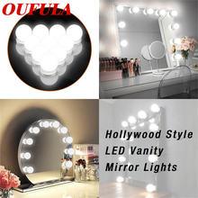 Светодиодный зеркальный светильник oufula usb в голливудском