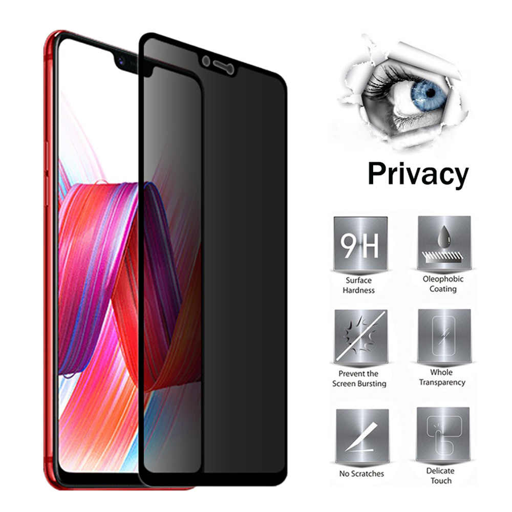 2.5D Full Cover Privacy Anti Peeping Glass For OPPO R9S R11 R11S PLUS R15 R15X R17 R17 PRO K1 F9 PRO Protection Screen Protector