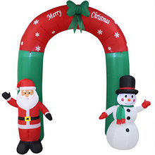 2.4 M คริสต์มาส Props GIANT Inflatable Arch Santa Claus Snowman ตกแต่งคริสต์มาสสำหรับ Home ใหม่ปี 2020 PARTY Xmas เครื่องประดับ(China)