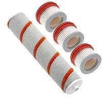 Adequado para xiaomi mijia dreame v9 parte pacote handheld aspirador de pó kits de peças reposição filtro hepa rolo escova macio fluff escova|Peças p/ aspirador de pó| |  -