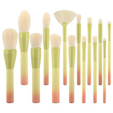 14pcs Makeup Brushes Set Soft Cosmetic Powder Blending Foundation Eyeshadow Blush Brush Kit Make Up Tools hot oval makeup brushes tools cosmetic 2color foundation cream powder blush make up brush set