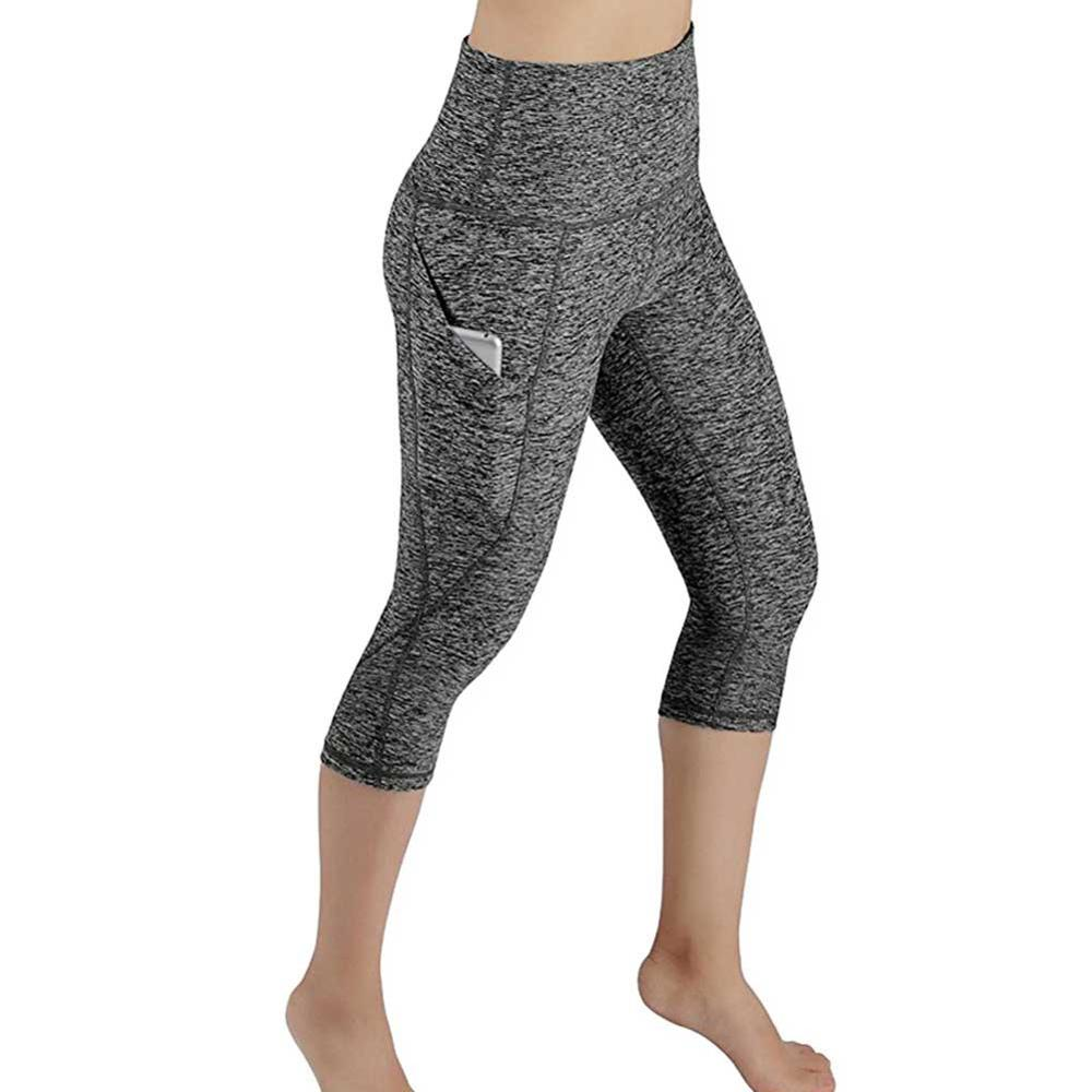 JGS1996 Calf-length Pants Capri Pant Sport leggings Women Fitness Yoga Gym High Waist Legging With Pocket 3/4 Yoga Pants