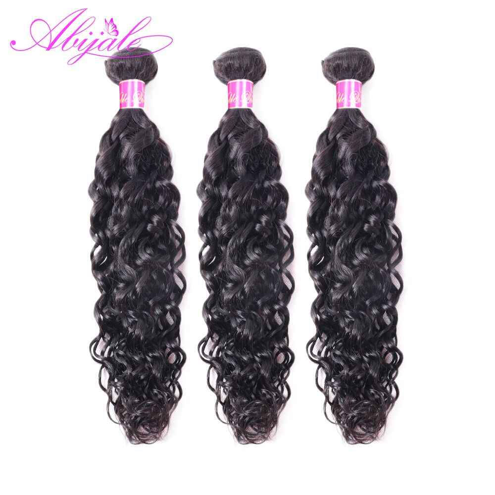 Abijale Brazilian Water Wave Bundles Human Hair Weave Bundles Natural Water Wave Hair Extensions Non Remy Hair 1/3/ Pieces