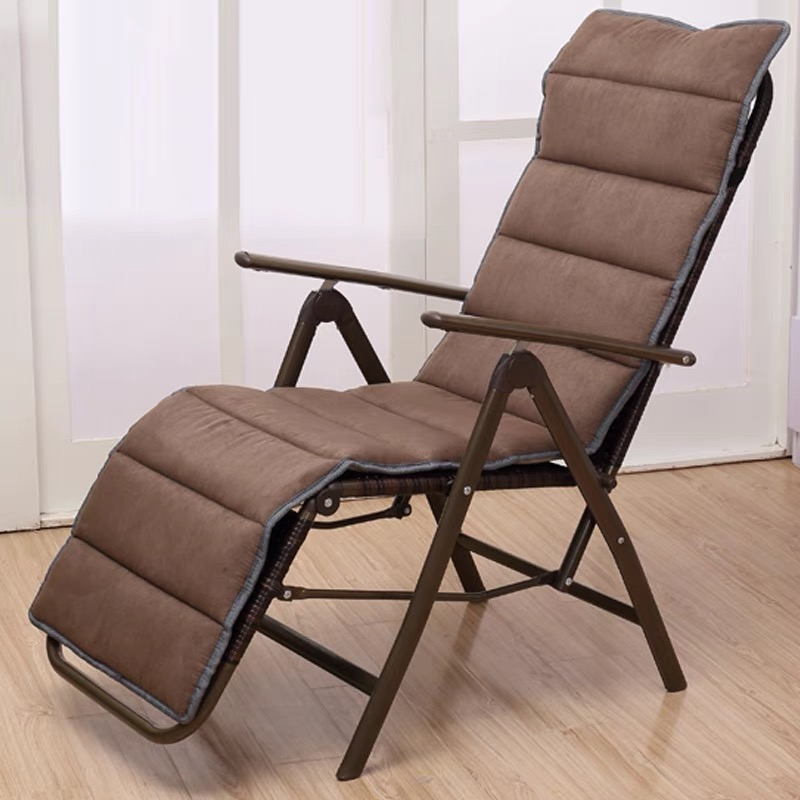 Recliner Folding Lunch Break Cany Chair Balcony Home Single Nap Chair Office Portable Leisure Chair For The Elderly
