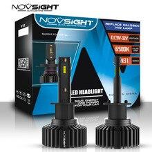 Novsight 2PCS 6500K Fanless LED Car Bulb H1 H4 H7 H8 H11 9005 9006 HB3 BH4 Auto Lamps 12V LEDs Fog Lights LED Car Headlight Kit