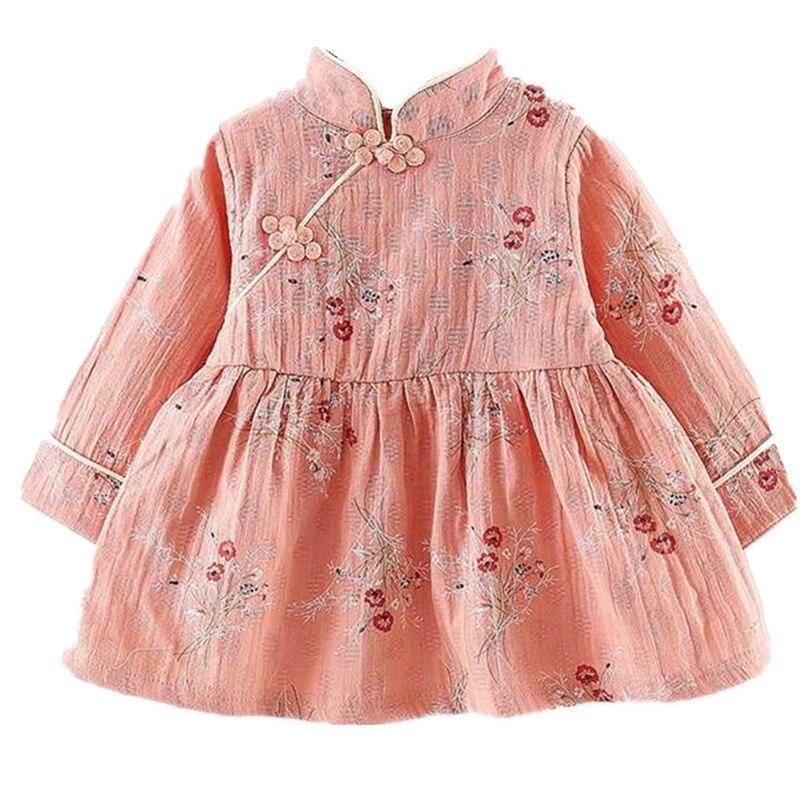 2019 Autumn Baby Dress Cotton Long Sleeve Infant Dress Fashion Baby Girls Clothing