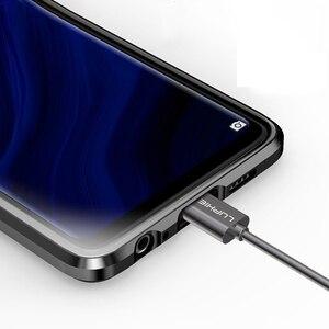 Image 5 - マグネットカバーhuawei社P30 プロケースクリアー 360 ガラスアルミニウム金属磁気ケースhuawei社メイト 20 プロフロントバックガラスシェル