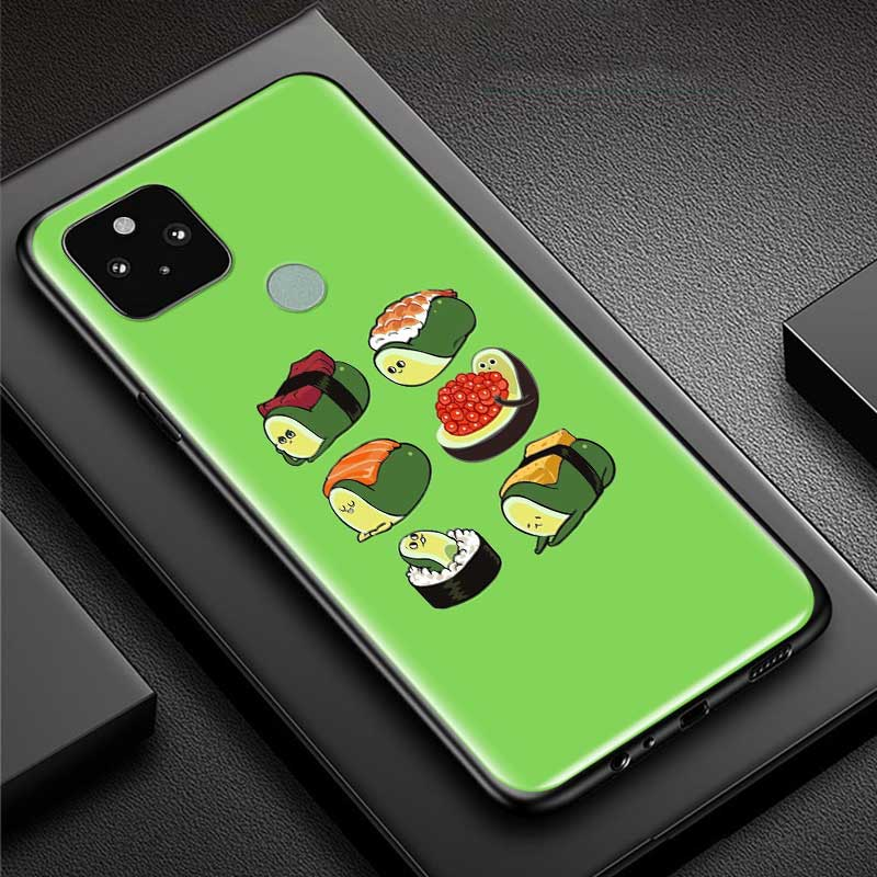 Phone Case For Google Pixel 4 XL 4 4A 5G Fundas For Pixel 5 Soft Silicone Cover Back Cases Coque Avocado Aesthetic Shell Capa