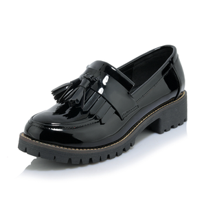 Image 2 - AARDIMI Womens Oxfords Shoes Tenis Feminino Patent Leather Women Flats Shoes Platform Ladies Shoes Slip On Shoes Zapatos Mujer