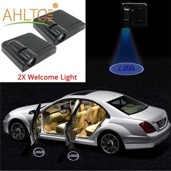 2Pcs Auto Universal Wireless Decoration Door Led Welcome Light Projection Lamp Light For Car Door Light Laser Car Led Door Light 2x auto led car led wireless door led welcome light projection lamp for renault laser buld for lada for bmw for volvo for toyota