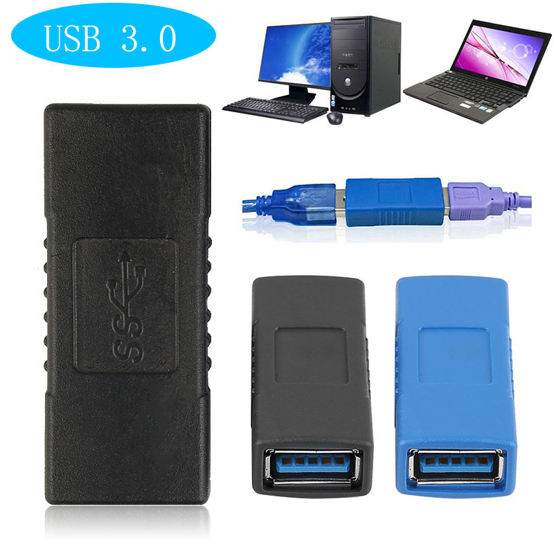 USB 3.0 Adapter Connector Type A Female To Female Coupler Changer Connector Durable For PC Laptop Computer