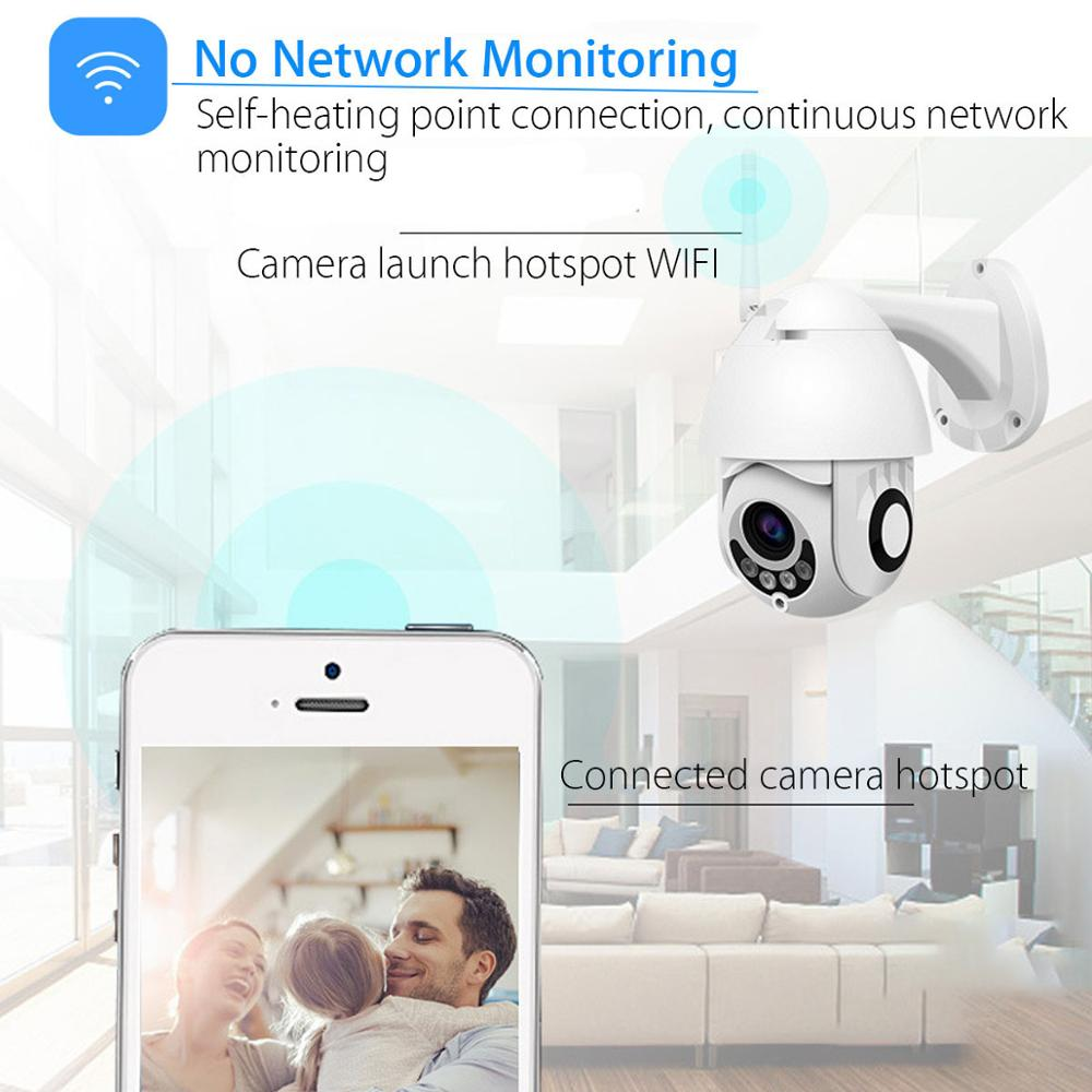 4x Optical Zoom PTZ IP Camera 320° Rotation 2MP Two-Way Audio Wireless Outdoor Waterproof CCTV Security Camera WiFi iCSee