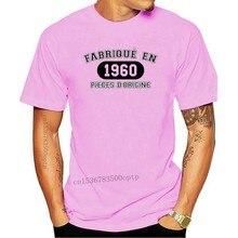 T-shirt français, fabriqué?? Joyeux anniversaire En 1960 Pi