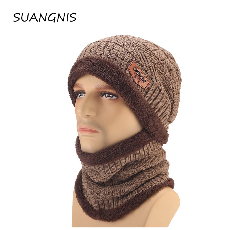 High quality Winter Hats Skullies Beanies Hat Winter Beanies For Men Women Wool Scarf Caps Balaclava Mask Gorras Bonnet Knitted