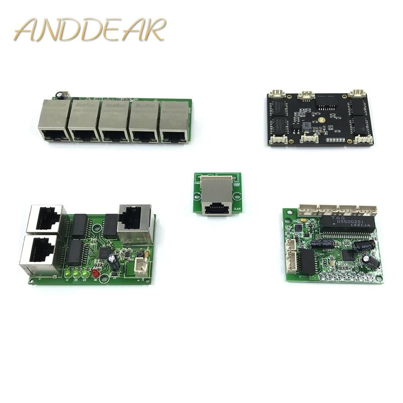 Unmanaged 3/5port 10/100M Industrial Ethernet Switch Module 3/5port PCBA Board OEM Auto-sensing Ports PCBA Board OEM Motherboard