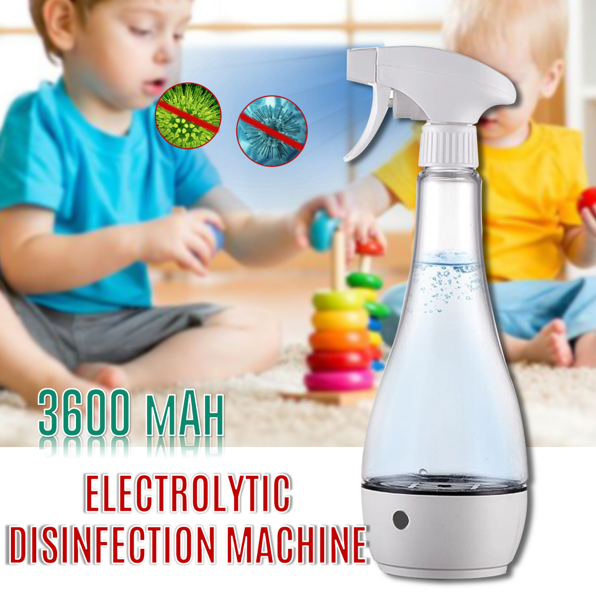 84 Disinfection Water Electrolytic Generator Sodium Hypochlorite Making Machine Protable Home Clean Sterilization Air Sprayer