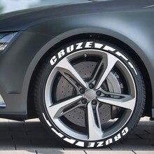 Pegatinas de neumáticos con letras de goma 3D para coche, accesorios para Chevrolet Cruze 1.5L 1,4 T ECO Premier sedán FWD LS LTZ 2019 Nuevo 2020