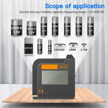 Handheld Battery Tester AA/AAA/C/D/9V/1.5V Digital Lithium Battery Capacity Button Cell Battery Tester Volt Checker
