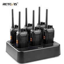 Retevis – walkie talkie RT27 + chargeur à Six voies, Radio PMR PMR446/FRS VOX chargeur USB, Radio Portable à deux voies pour hôtel/Restaurant 6 pièces