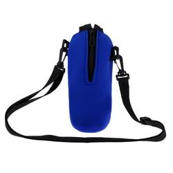 2 szt. Uchwyt na butelkę wody  izolowany neoprenowy pojemnik na wodę butelka podróżna uchwyt torba rękaw osłaniający etui pokrowiec 750ml w Butelki sportowe od Sport i rozrywka na