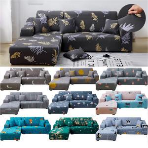 Sofa-Cover-Set Living-Room Chaise Pets-Corner Elastic L-Shaped Geometric for Longue 1/2pieces