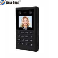 2.8inch TFT screen Face 125KHZ RFID Time Attendance Wiegand 26 Keypad Software Password access control System TCP/IP/USB