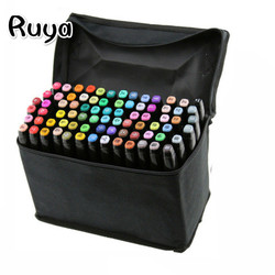 TouchFIVE 80 Color Art supplies copic Markers highlighters Set Dual Headed Sketch Oily Alcohol Animation Manga stabilo brush pen
