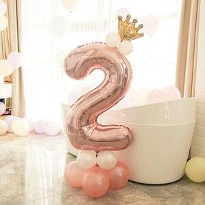 Image 2 - Leeiu Numero Foil Palloncini Palloncini Di Compleanno In Oro Rosa 1 2 3 4 5 6 7 8 9 Anni di Buon Compleanno decorazioni Del Partito Dei Capretti Palloncini