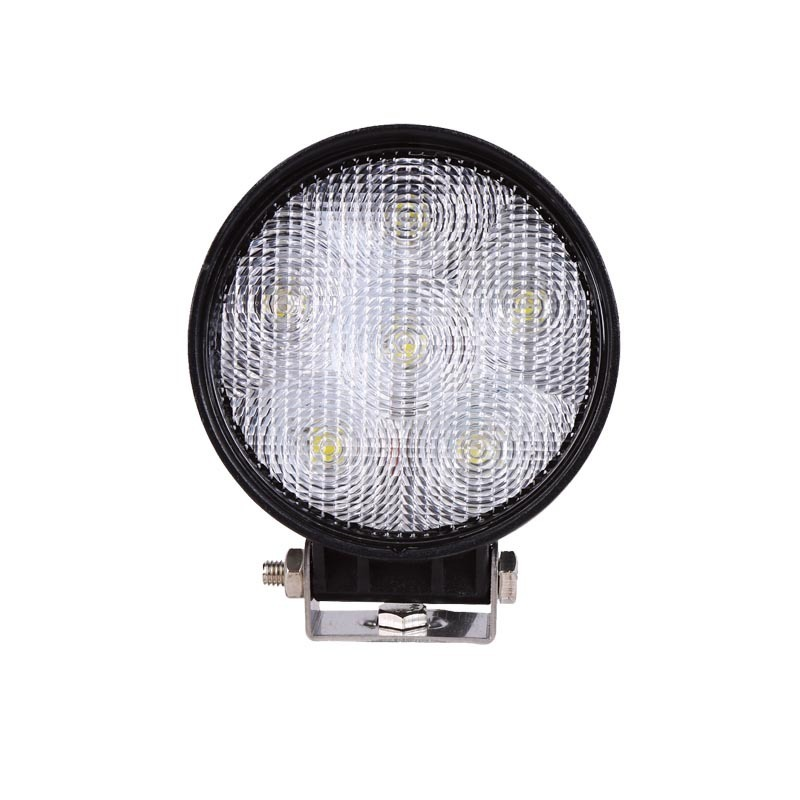Round Led Forklift Working Light 18W Forklift Front Headlamp Automobile Engineering Industrial And Mining Lighting Work