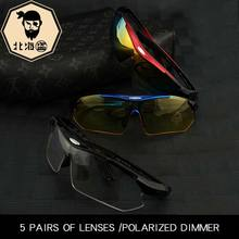 North pirate fishing glasses high definition outdoor polarized glasses special myopia glasses anti-