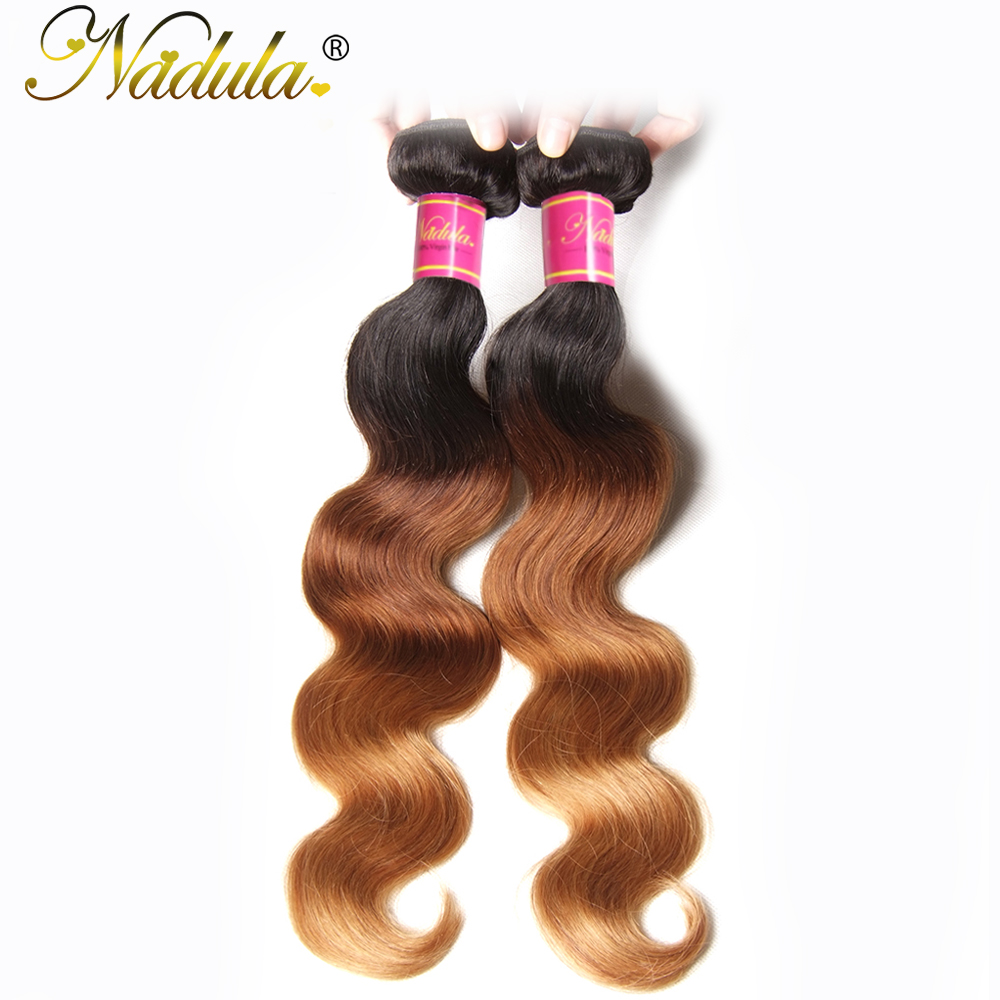 Nadula Hair  Body Wave  Bundles 1B-4-27 Ombre  Hair s Body Wave Ombre Hair Bundles 3