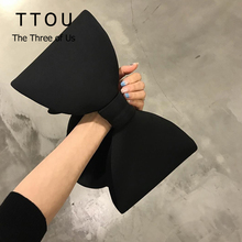 Elegant Designer Women Wristlets Bow Day Clutches Bag Ladies Evening Party Clutches Black Luzury Shoulder Bag Bolsas Feminina