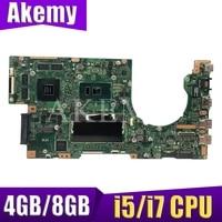 XinKaidi For ASUS K501U K501UX K501UB A501U Loptop motherboard Mian board W/4GB/8GB i5/i7 CPU DDR3 Memory slot