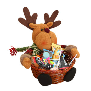 Christmas Tree Candy Storage Basket Decoration Gifts Bag Santa Claus Storage Candy Basket Gift Christmas Party Home Decorations