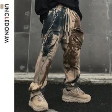 UNCLEDONJM Tie Dyed Trousers Hip Hop Vintage Retro
