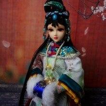 32 см 1/6 ручной работы Древние китайские куклы для девочек коллекционные традиционные восточные куклы игрушки с платьем подарки сувенир