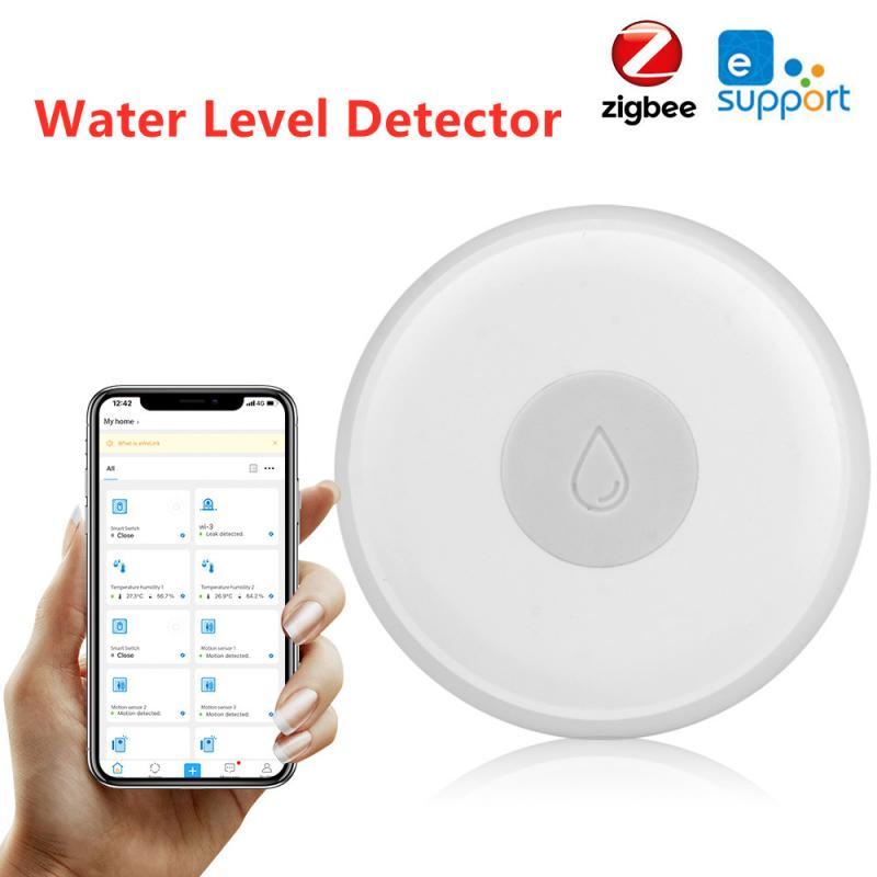 Датчик уровня воды Ewelink Zigbee, умный беспроводной детектор утечки воды, Оповещение об обнаружении перелива