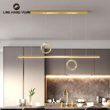 Люстра светодиодная черная и золотая для гостиной столовой кухни