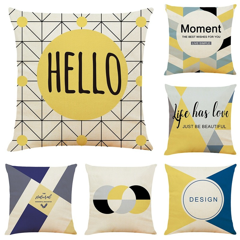 Gy0747 45x45cm Irregular Geometric Pattern Pillow 1pc No Filling Polyester Linen Geometry Nordic Style Cushion Cushion Cover Aliexpress
