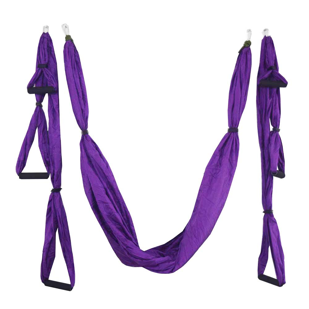 20 färger Styrka Dekompression yoga Hängmatta Inversion Trapeze Anti-Gravity Aerial Traction Yoga Gym rem band Swing set